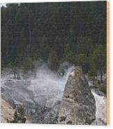 Yellowstone Wood Print by Jeff Pickett