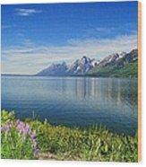 Yellowstone Lake Wood Print