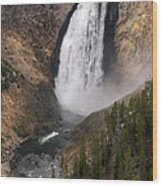 Yellowstone Lower Falls Wood Print