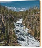 Yellowstone National Park Lewis River Wood Print