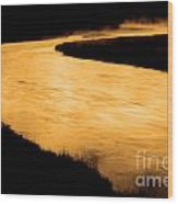 Yellowstone National Park Madison River In Early Morning Wood Print