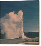 Yellowstone -- Old Faithful Vintage Wood Print