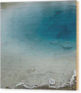 Yellowstone Pool Wood Print by David Yack