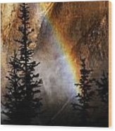 Yellowstone Rainbow Wood Print