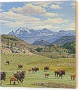 Yellowstone Spring Wood Print