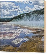 Yellowstone - Springs Wood Print