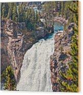 Yellowstone Upper Falls Wood Print