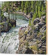 Yellowstone - Upper Falls Wood Print
