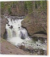 Yellowstone Waterfalls Wood Print