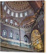 Yeni Valide  Camii Mosque Istanbul Turkey Wood Print