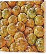 Yep Oranges Wood Print