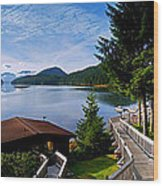 Yes Bay Lodge - The View Wood Print