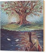 Yggdrasil - The Last Refuge Wood Print