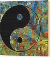 Yin Yang Abstract Wood Print