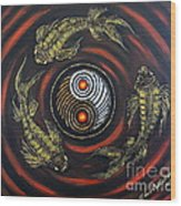 Yin Yang - Koi Fish Wood Print