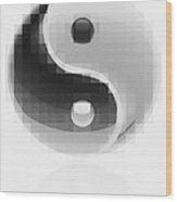 Yin Yang Mosaic Wood Print