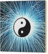 Yin Yang Wood Print by Tim Gainey