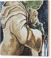 Yoda Wood Print by David Kraig