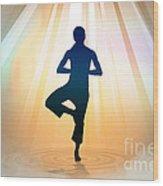 Yoga Balance Wood Print by Bedros Awak