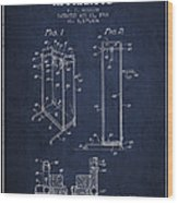 Yoga Exercising Apparatus Patent From 1968 - Navy Blue Wood Print