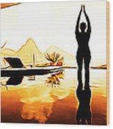 Yoga Life Wood Print