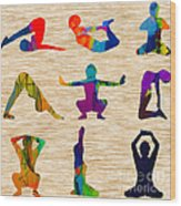 Yoga Poses Wood Print