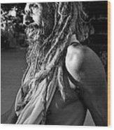 Yogi At Oachira Wood Print