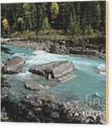 Yoho River Wood Print