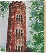 Yokahu Tower  Wood Print by Zaira Dzhaubaeva