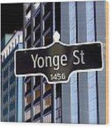 Yonge Street Wood Print