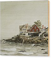 York Beach Wood Print by Monte Toon