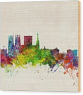 York England Skyline Wood Print