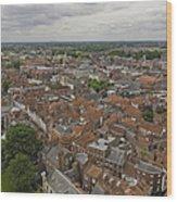 York From York Minster Tower II Wood Print