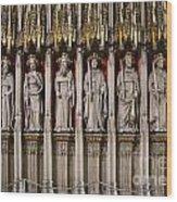 York Minster Statues 6100 Wood Print