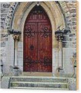 Yorkshire Church Door Wood Print