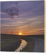 Yorkshire Sunset  Wood Print