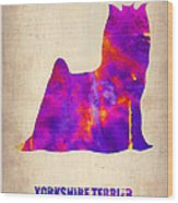 Yorkshire Terrier Poster Wood Print by Naxart Studio