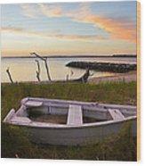 Yorktown Beach Sunset Wood Print