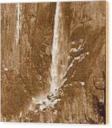 Yosemite Bridalveil Falls Wood Print