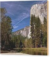 Yosemite El Capitan River Wood Print