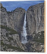 Yosemite Falls- Vertical Wood Print