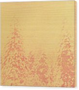 Yosemite Forest in Red and Yellow Wood Print