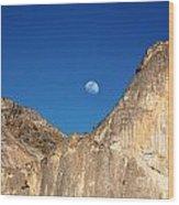 Yosemite Moonrise Wood Print