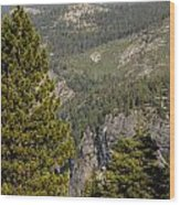 Yosemite Mountain High Wood Print