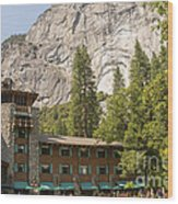 Yosemite National Park Lodging Wood Print