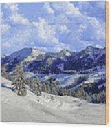 Yosemite National Park Winter Wood Print