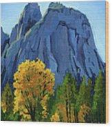 Yosemite Oaks Wood Print
