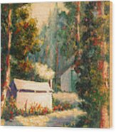 Yosemite Tent Cabins Wood Print