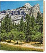 Yosemite Valley Along Yosemite River Beach Wood Print