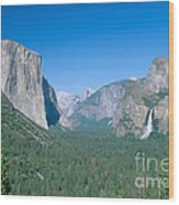 Yosemite Valley Wood Print by David Davis
